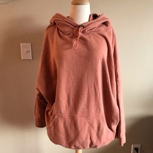 Orange Free People Oversized Hoodie
